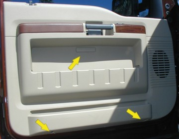 & Ford F250 Excursion door panel removal